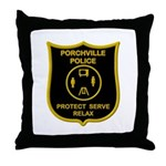Porchville Police Throw Pillow