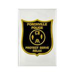 Porchville Police Rectangle Magnet (100 pack)