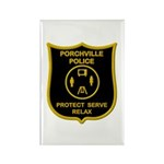 Porchville Police Rectangle Magnet (100 pack)