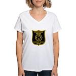 Porchville Police Women's V-Neck T-Shirt