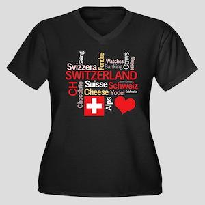 I Love Switzerland Plus Size T-Shirt