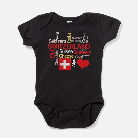 Cute Switzerland Baby Bodysuit