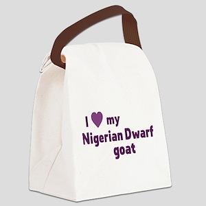 Nigerian Dwarf goat Canvas Lunch Bag