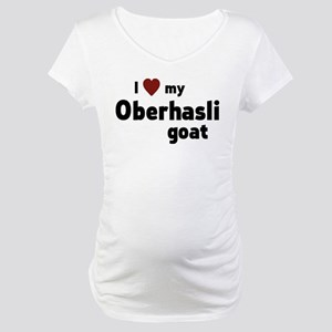 Oberhasli goat Maternity T-Shirt