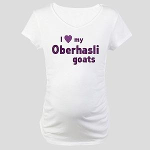 Oberhasli goats Maternity T-Shirt