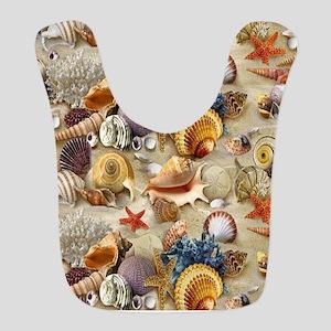 Seashells And Starfish Bib