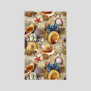 Seashells And Starfish 3'x5' Area Rug