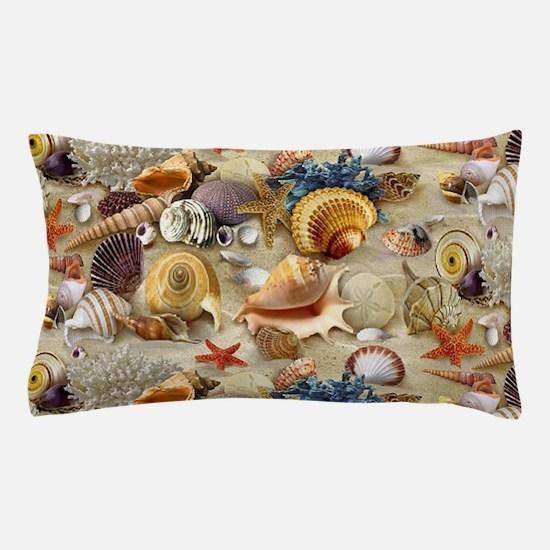 Seashells And Starfish Pillow Case