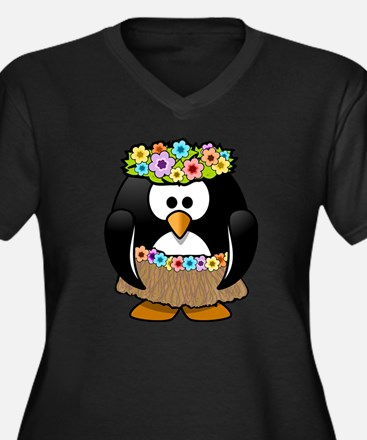 Unique Tux penguin Women's Plus Size V-Neck Dark T-Shirt