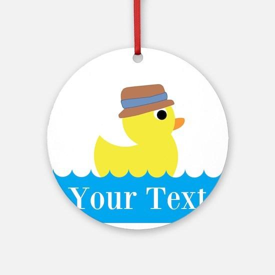 Personalizable Rubber Duck Ornament (Round)