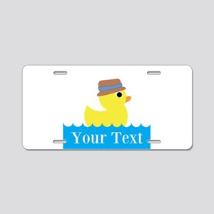 Personalizable Rubber Duck Aluminum License Plate