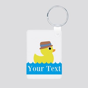 Personalizable Rubber Duck Keychains
