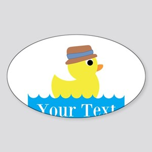 Personalizable Rubber Duck Sticker