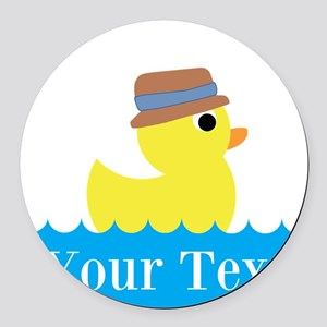 Personalizable Rubber Duck Round Car Magnet