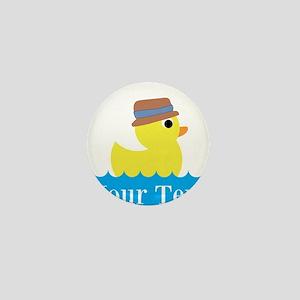 Personalizable Rubber Duck Mini Button