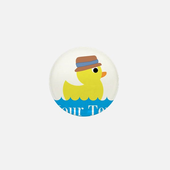 Personalizable Rubber Duck Mini Button