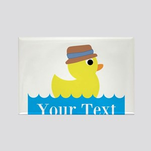 Personalizable Rubber Duck Magnets