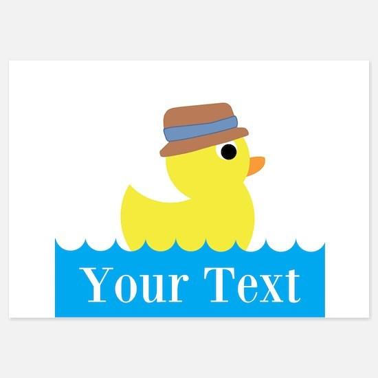 Personalizable Rubber Duck Invitations