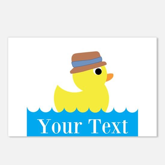 Personalizable Rubber Duck Postcards (Package of 8