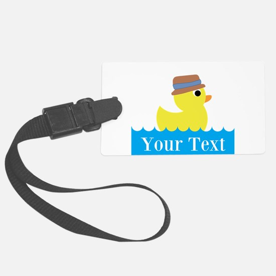 Personalizable Rubber Duck Luggage Tag