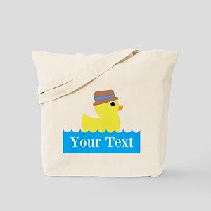 Personalizable Rubber Duck Tote Bag