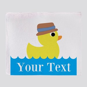 Personalizable Rubber Duck Throw Blanket