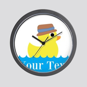 Personalizable Rubber Duck Wall Clock