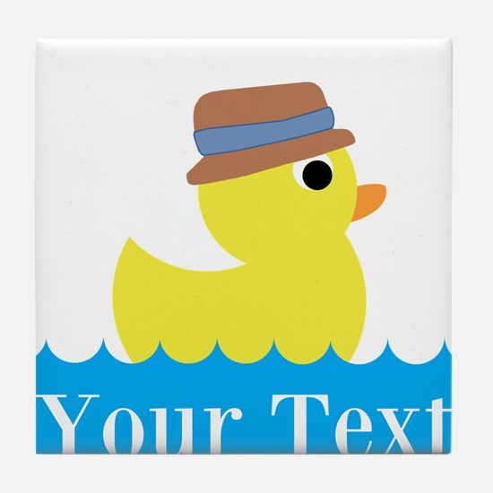 Personalizable Rubber Duck Tile Coaster