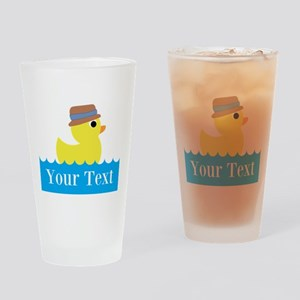 Personalizable Rubber Duck Drinking Glass