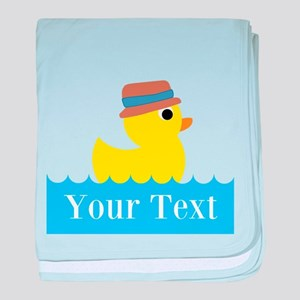 Personalizable Rubber Duck baby blanket