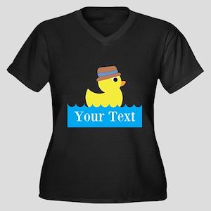 Personalizable Rubber Duck Plus Size T-Shirt