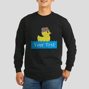 Personalizable Rubber Duck Long Sleeve T-Shirt