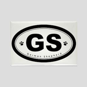 GS German Shepherd Rectangle Magnet