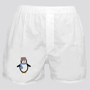 Penguin in Hat and Scarf Boxer Shorts