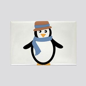 Penguin in Hat and Scarf Magnets