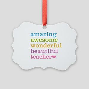 Amazing Teacher Picture Ornament