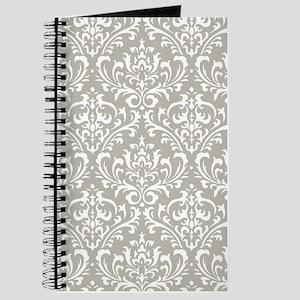 modern vintage grey and white damask Journal