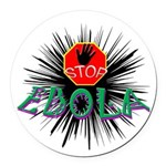 Stop Ebola Round Car Magnet