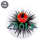 "Stop Ebola 3.5"" Button (10 Pack)"