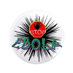 "Stop Ebola 3.5"" Button (100 Pack)"