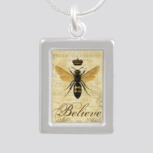 modern vintage French queen bee Necklaces