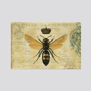 modern vintage French queen bee Magnets