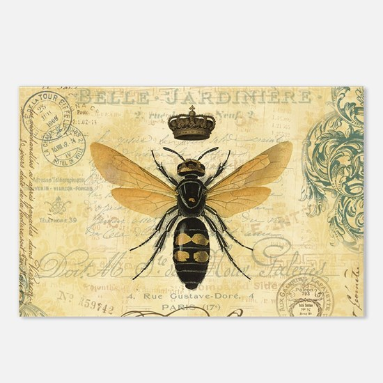 modern vintage French queen bee Postcards (Package