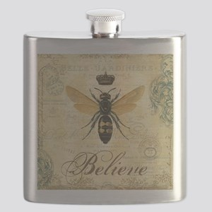 modern vintage French queen bee Flask