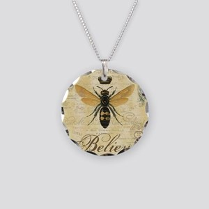 modern vintage French queen bee Necklace