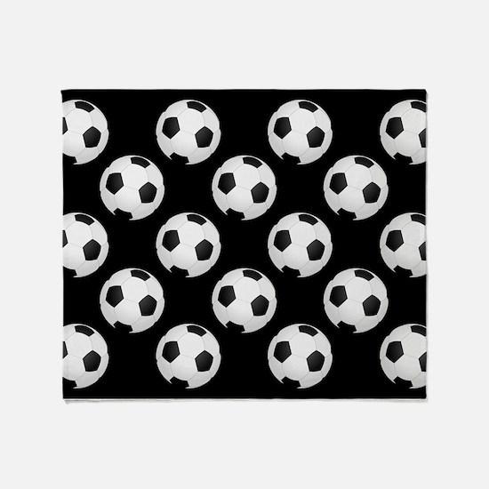 Soccer Balls Throw Blanket