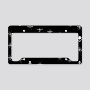 Gothic Insects And Skulls Pattern License Plate Ho
