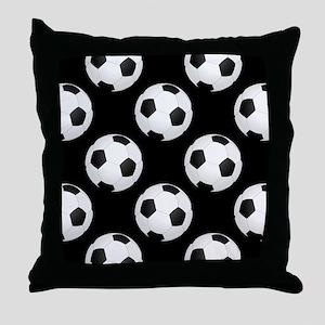 Soccer Balls Throw Pillow