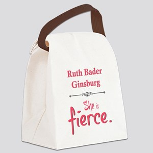 Ruth Bader Ginsburg is fierce Canvas Lunch Bag