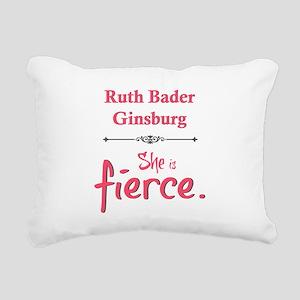 Ruth Bader Ginsburg is fierce Rectangular Canvas P